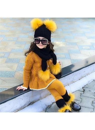 Riccotarz Hardal Kız Çocuk 5'Li Triko Takım Renkli